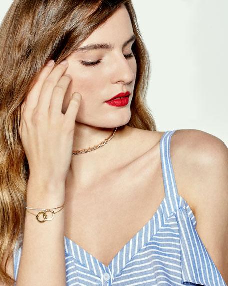 18K Rose Gold Diamond Baguette Choker Necklace, 2.25 tdcw