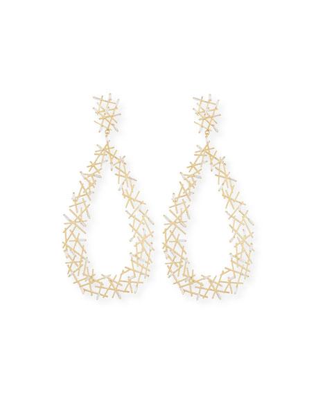 Baguette Diamond Stick Drop Earrings