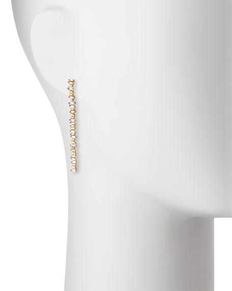 Fireworks Diamond Baguette Stick Earrings