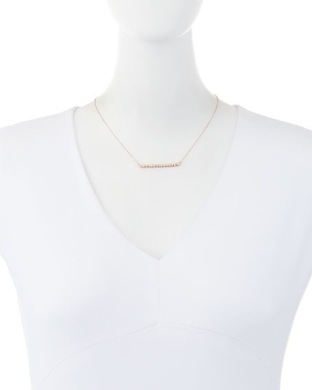 Suzanne Kalan 18K Rose Gold Diamond Baguette Necklace, 0.56 tdcw