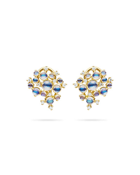 Paul Morelli Bubble Moonstone & Diamond Clip-On Earrings