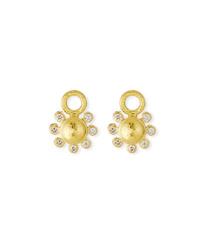 19k Diamond Domed Earring Charms