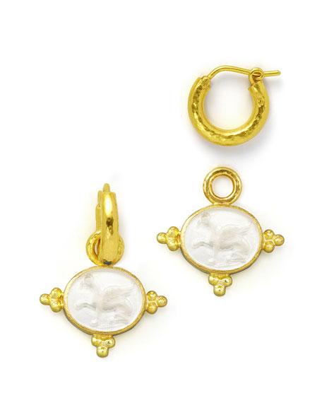 Crystal Grifo Earring Pendants, Crystal