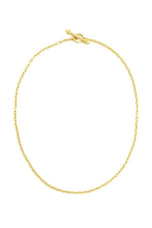 """Elizabeth Locke 19k Fine Gold Link Necklace, 17""""L"""