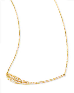 Mimi So Phoenix 18k Yellow Gold Diamond Feather Necklace