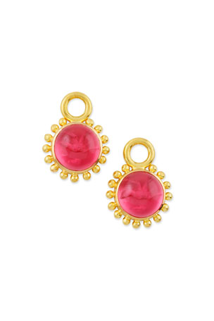 Elizabeth Locke Pink Venetian Glass Earring Pendants