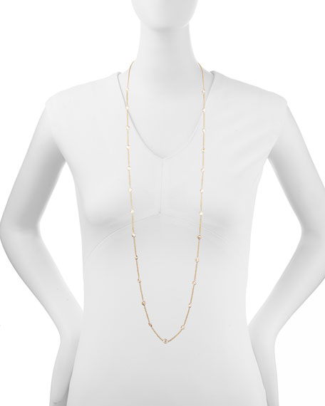 "42"" Rose Gold Diamond Station Necklace, 4.99ct"