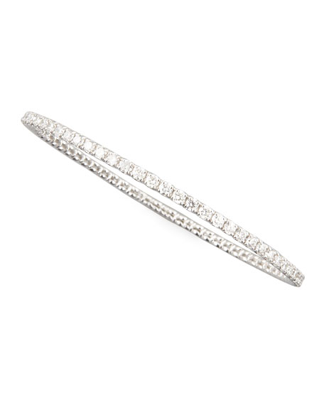 67mm White Gold Diamond Eternity Bangle, 5.66ct