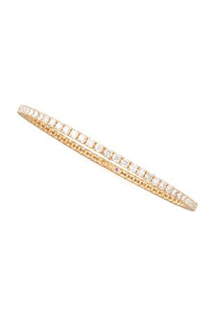 Roberto Coin 64mm Rose Gold Diamond Eternity Bangle, 5.5ct