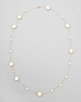 Ivanka Trump Rose Gold Chain with Mother-of-Pearl and Diamonds, 36""