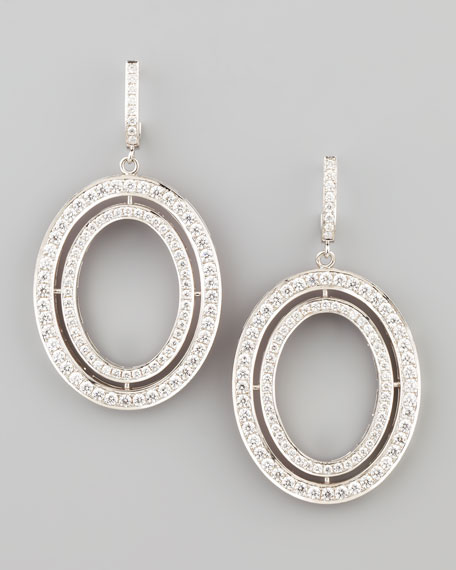 Signature Medium Oval Diamond Earrings