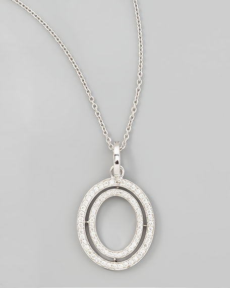Signature Small Oval Diamond Pendant Necklace, 18""