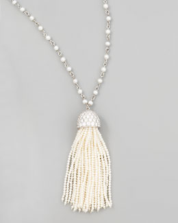 Ivanka Trump Seed Pearl Tassel Necklace, 36""