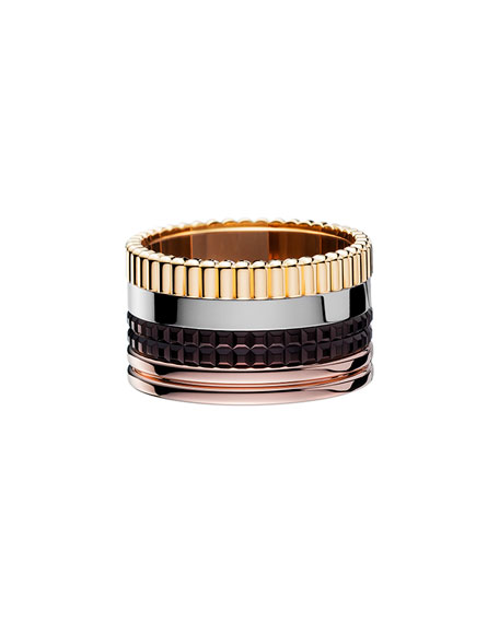 Classic Quatre 18k Gold Large Band Ring, Size 7