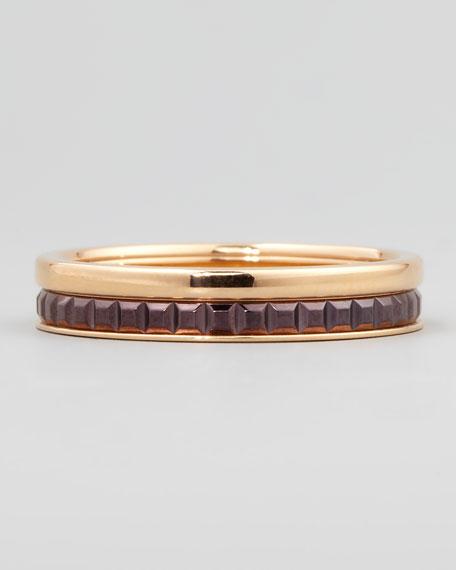 Quatre Follies 18k Gold Band Ring, Size 7