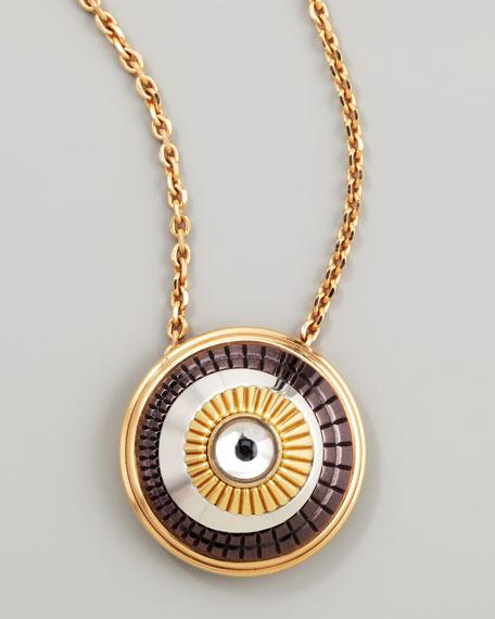 Quatre 18k Four-Color Gold  Rock Crystal Pendant Necklace
