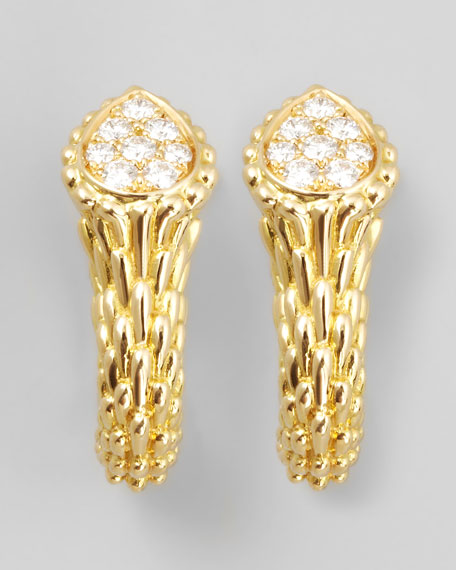 Serpent Boheme 18k Yellow Gold Diamond Earrings