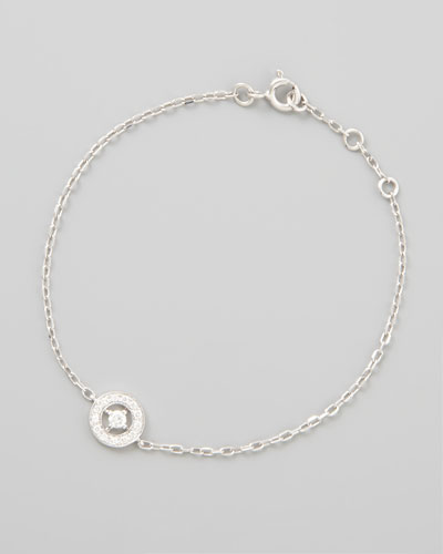 Ava 18k White Gold Diamond Chain Bracelet