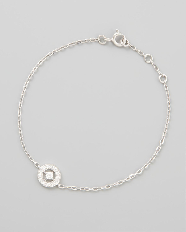 Ava 18k White Gold Diamond Chain Bracelet