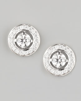 Boucheron Ava 18k White Gold Diamond Stud Earrings, 0.72 TCW