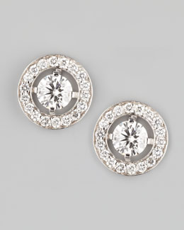 Boucheron Ava 18k White Gold Diamond Stud Earrings, 1.46 TCW