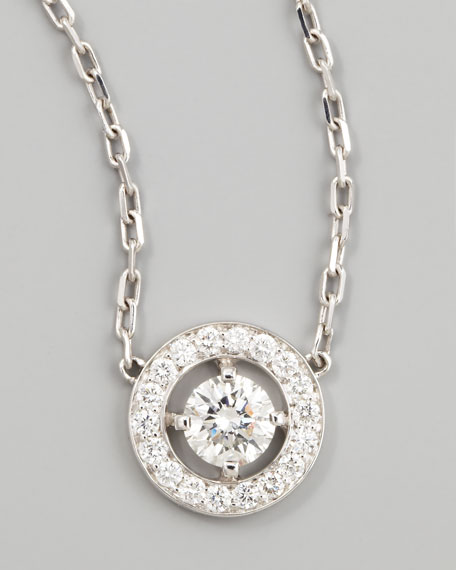 Boucheron Ava 18k White Gold Round Diamond Pendant