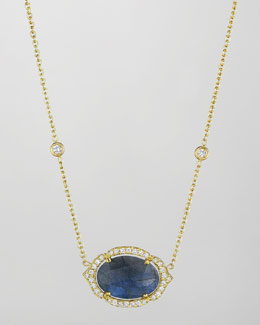Penny Preville 18k Labradorite & Diamond Pendant Necklace