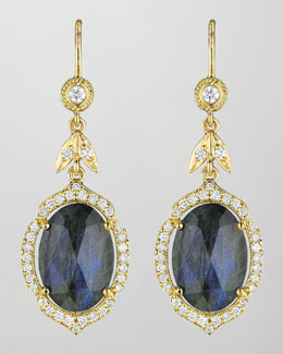 Penny Preville 18k Labradorite & Diamond Drop Earrings
