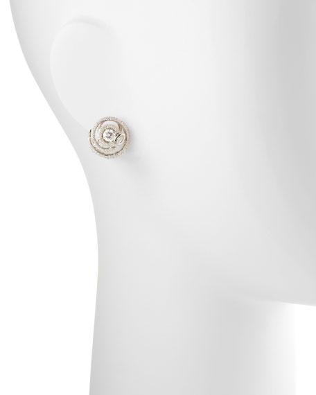 Diamond Serpent Stud Earrings, H/VS2, 2.18 TCW