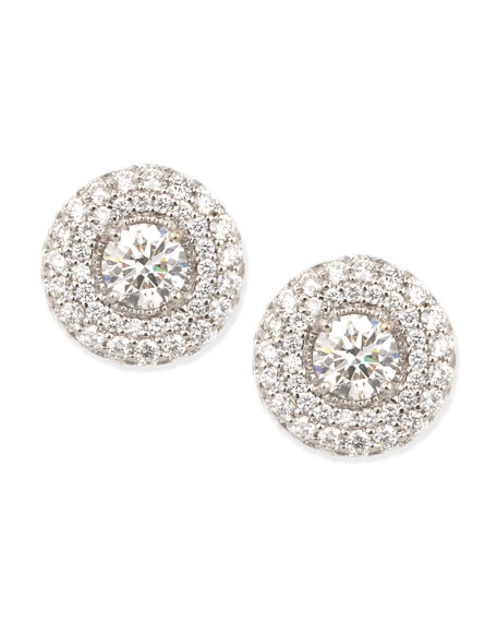 Petite Deco Treasures Luna Stud Earrings, 3.19 TCW, G/VS2