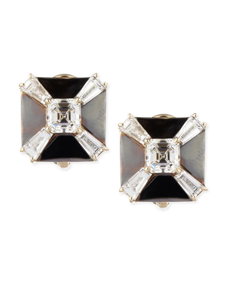 Petite Deco Treasures Black Gold & Diamond Earrings, F/IF, 1.97 TCW
