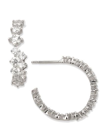Anniversary Collection Diamond Hoop Earrings