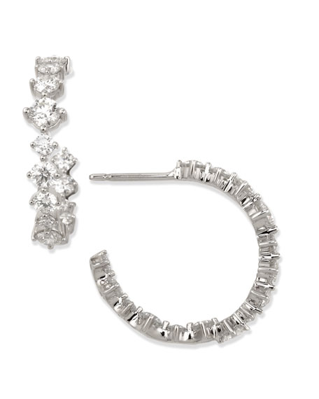 Anniversary Collection Diamond Hoop Earrings