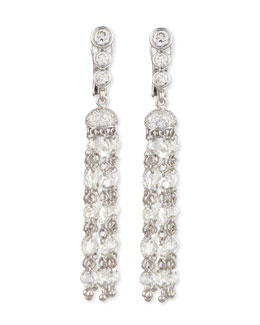 Forevermark Maria Canale Swing Collection Rose-Cut Tassel Earrings, 5.82 TCW; G-H/VS1