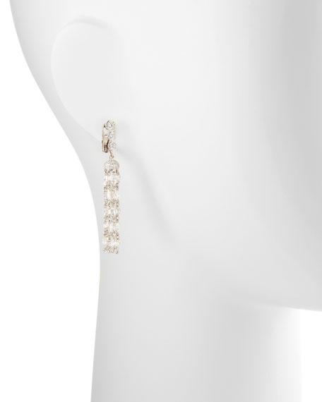 Swing Collection Rose-Cut Tassel Earrings, 5.8 TCW; G/VS1
