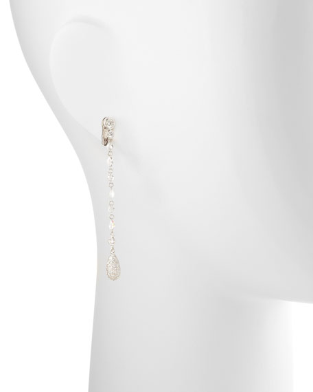 Swing Collection Rose-Cut Diamond Drop Earrings