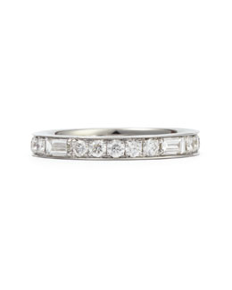 Maria Canale for Forevermark Anniversary Collection Baguette Diamond Band Ring, 1.0 TCW