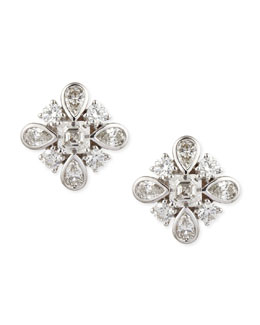 Forevermark Maria Canale Princess Diamond Stud Earrings, D/IF-VVS2, 3.24 TCW