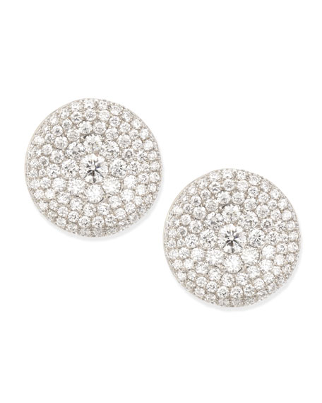 Swing Collection Thumbprint Diamond Stud Earrings, E/VS-SI1