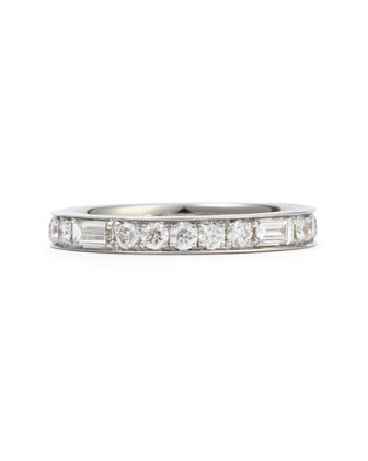 Maria Canale Anniversary Collection Baguette Diamond Band Ring, 1.0 TCW