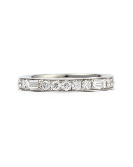 Anniversary Collection Baguette Diamond Band Ring, 1.26 TCW