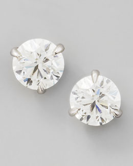NM Diamond 18k White Gold Diamond Stud Earrings, 0.76ctw G-H/SI1