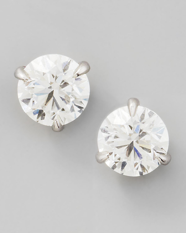 18k White Gold Diamond Stud Earrings, 0.76ctw G-H/SI1
