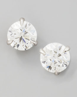 NM Diamond 18k White Gold Diamond Stud Earrings, 1.01ctw G-H/SI1