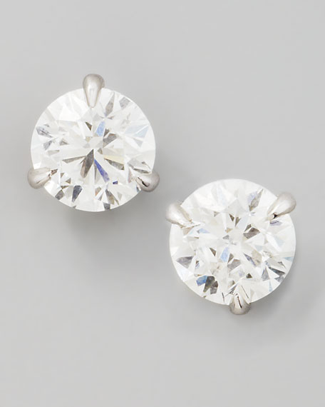 18k White Gold Diamond Stud Earrings, 1.01ctw G-H/SI1