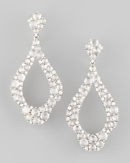 18k White Gold Rose-Cut Diamond Drop Earrings