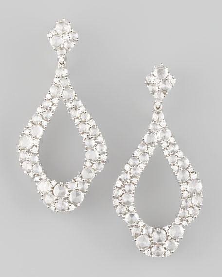 18k White Gold Rose-Cut Diamond Drop Earrings