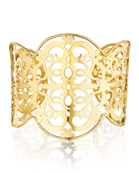 Cancello 18k Yellow Gold Cuff Bracelet