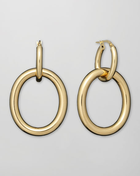 Mama 18k Gold Link Earrings