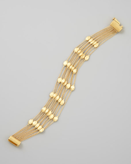Siviglia 18k Gold 10-Strand Small-Bead Bracelet